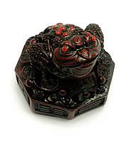 Фигурка Жаба каменная крошка коричневая