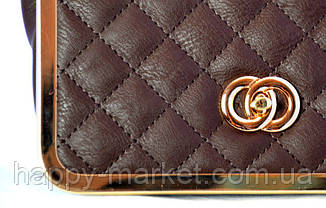 Женский клатч Chanel Коричневый  005, фото 2