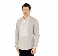 Рубашка вышитая мужская серого цвета
