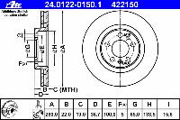 Диск тормозной передний FERODO DDF928, DDF1221; TRW DF2804; VAG 1J0615301E, 1J0615301M на Volkswagen Golf