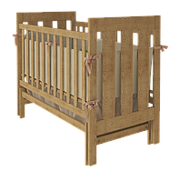 Кроватка Woodman Oskar, натуральная