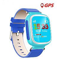 Оригинальные детские часы Smart watch Q100 (Голубой)