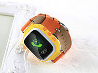 Оригинальные детские часы Smart watch Q100 (Оранжевый)