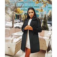 Пальто кашемировое женское модное 126 -2 черное