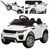 Детский электромобиль  Land Rover Style M 3213 EBLR-1: 2.4G. EVA-колеса, Кожа - БЕЛЫЙ -купить оптом, фото 1