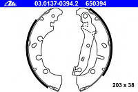 Колодки тормозные задние, барабанные (тормозная система lockheed)  BOSCH 0986487599; LPR 08200 на Ford Fusion