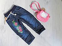 Детские джинсы для девочки теплые на махре размер 2,3,4 лет