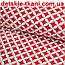 Ткань с сеткой из лепестков красного цвета №256а, фото 2