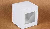 """Коробка """"Для чашки"""" М0017-о16 біла з вікном, розмір: 100*100*100 мм"""