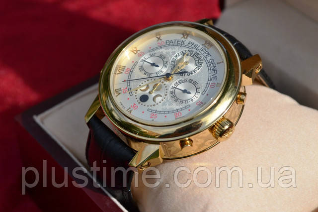 Часы мужские Patek Philippe Sky Moon White механические, наручные,  двухсторонние, фото 1 963185eb9d5