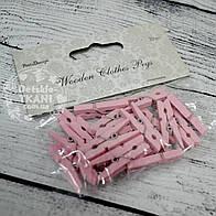 Декоративные прищепки розового цвета (3 см).