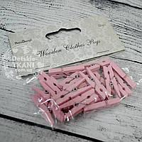 Декоративные прищепки розового цвета (3 см)., фото 1