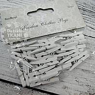 Декоративные прищепки белого цвета (3 см).