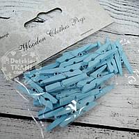 Декоративные прищепки голубого цвета (3 см).