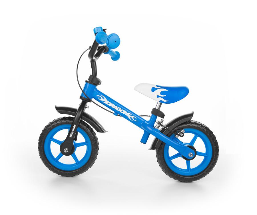 Велобег детский Milly Mally с ручным тормозом Dragon (беговел, самокат-беговел, детский транспорт)