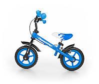 Велобег детский Milly Mally с ручным тормозом Dragon (беговел самокат-беговел детский транспорт)