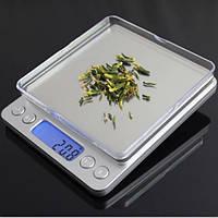Весы ювелирные 6295A 2 кг точность 0.1 + чаша