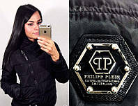 """Женская стильная короткая куртка на синтепоне """"Philipp Plein"""" в расцветках  (100-2067)"""