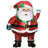 Гелиевый FM Санта Клаус в очках 76см X 68см