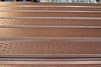 Металлический соффит-панель коричневый №8017 мат