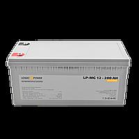 Мультигелевый (AGM) аккумулятор LogicPower 12В 200Ач