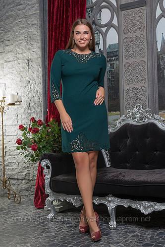Платье женское батал перфорация