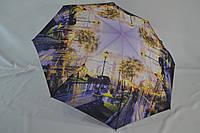 """Женский зонт автомат с городами от фирмы """"Bellisimo""""."""