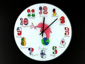 Часы настенные из стекла Интернациональ - Интернет-магазин Marus-Shop в Киеве