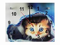 Часы настенные из стекла Мой котенок