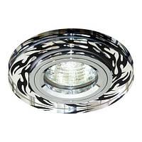 Светильник точечный Feron 8015-2 MR16 серебро+черный хром