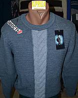 Мужской свитер с контрастным жгутом