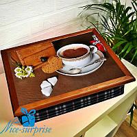Подставка для ноутбука с подушкой Кофе с любовью