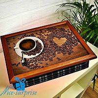Поднос на подушке Чашечка кофе