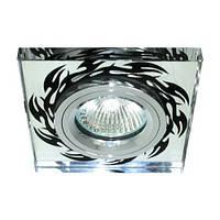 Светильник точечный Feron 8115-2 MR16 серебро+черный хром