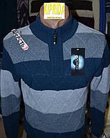 Мужской свитер декорирован молнией