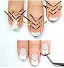 Скотч для дизайна ногтей, металлическая лета 1 мм, фото 2
