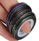 Скотч для дизайна ногтей, металлическая лета 1 мм, фото 5