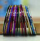 Скотч для дизайна ногтей, металлическая лета 1 мм, фото 4