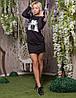 Платье женское спортивного стиля  капюшон, фото 3