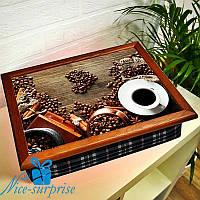 Поднос на подушке Вкусный кофе