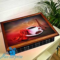 Поднос для завтрака в постель Утро в Париже
