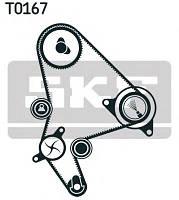 Ремень грм, комплект (ремень, комплект роликов)  GATES K025523XS, K015523XS на Peugeot Partner, 206