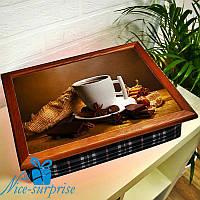 Поднос для завтрака в постель Американо с шоколадом