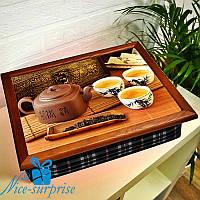 Переносной столик с подушкой Чайная церемония
