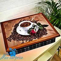 Поднос на подушке Кофейное наслаждение
