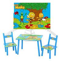 Детский столик и два стула Пчелка Майя