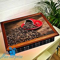 Поднос на подушке Ароматные зёрна кофе