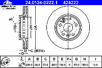 Диск тормозной передний (вентилируемый)  FERODO DDF1733; TRW DF6110 на Mercedes-Benz W415