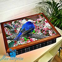 Піднос на подушці для сніданку Синій птах, фото 1