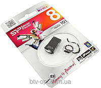 Mini Flash USB 2.0 накопитель SP Silicon Power T01 8 GB, флешка, флеш-накопитель на 8 Гб, карта памяти,компьют
